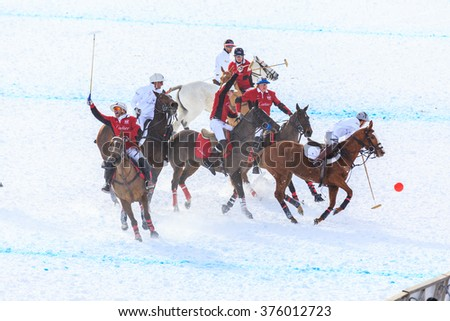 Snow Polo World Cup, on lake ice of St. Moritz, 30/1/2016, Saint Moritz, swiss