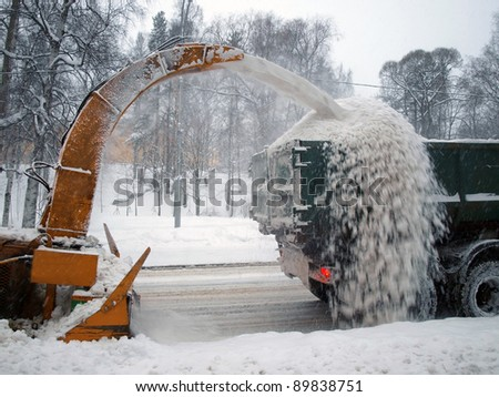 Snow removal - stock photo