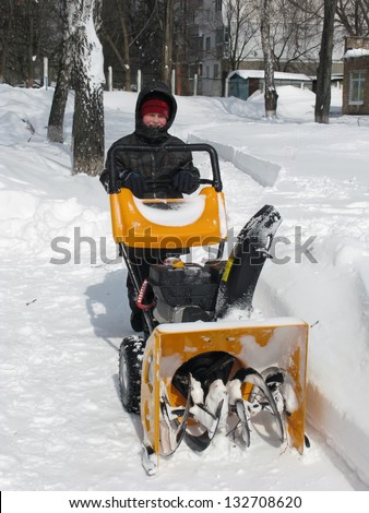 Snow removal with a snow blower