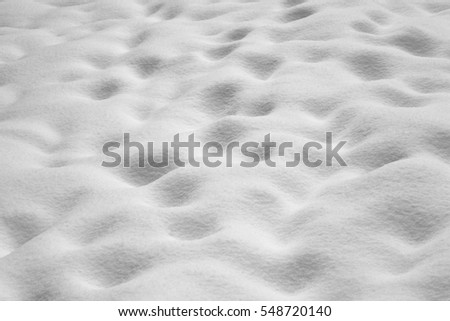 Snow surface, ground covered by the snow