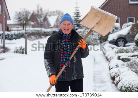 snow sweep - stock photo