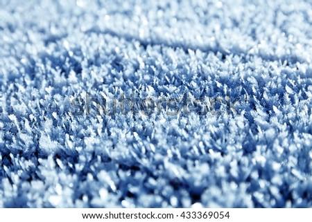 Snow texture close up on a sun - stock photo