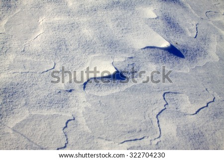 snow texture, closeup of photo