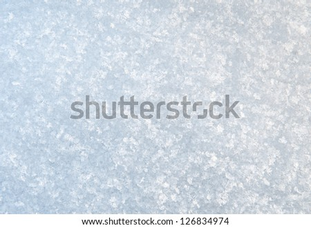 Snow texture, high contrast background - stock photo