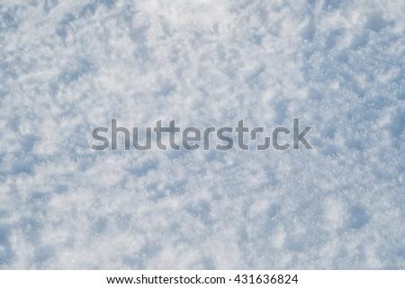 snow texture, selective focus - stock photo