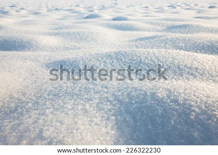 snow texture, winter scene, snow background - stock photo