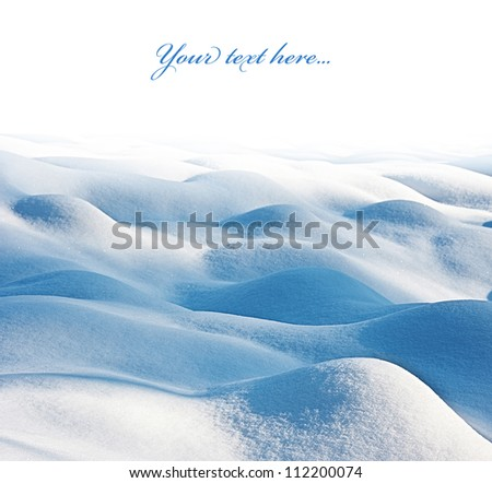 snow - textured background with empty space