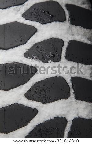snow tire protector texture - stock photo