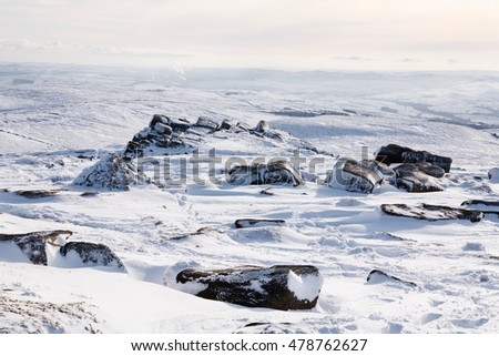 Snow winter landscape