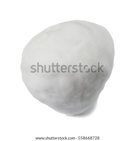 Snowball isolated on white background.