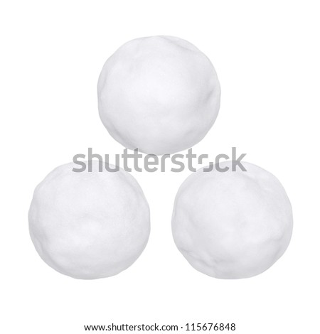 Snowballs or hailstones on a white background - stock photo