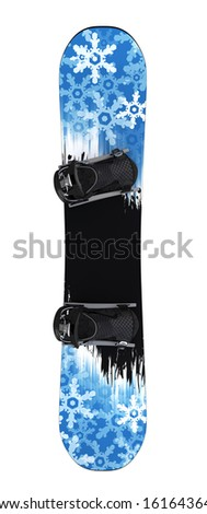 Snowboard isolated II. Clipping paths - stock photo
