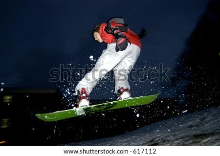 snowboard jump - stock photo