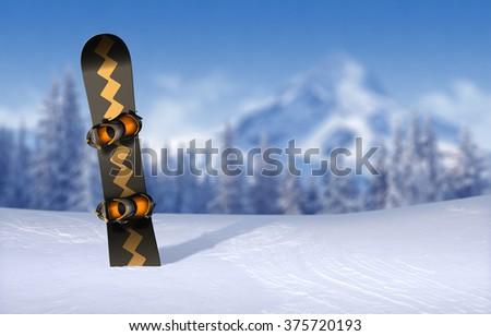 Snowboard Mountain Background