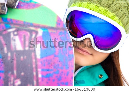 snowboarder jumping from the mountain along the road extreme - stock photo