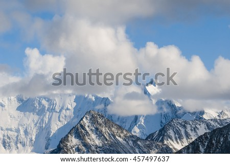 snowbound mountain backbone landscape