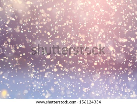 Snowfall background - stock photo
