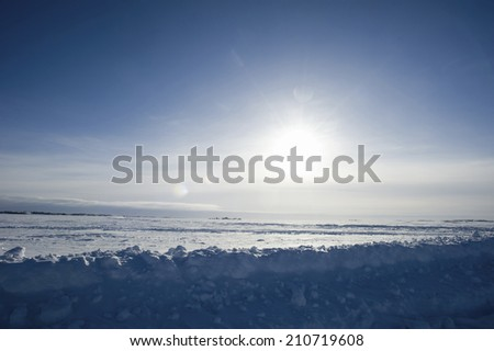 Snowfield Of Great Slave Lake