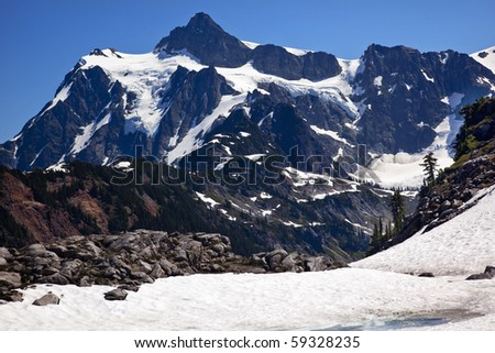 Snowfields Glaciers Artist Point Mount Shuksan Mount Baker Highway Snow Mountain Washington State Pacific Northwest