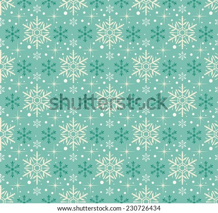 Snowflake Abstract Background. Seamless wallpaper