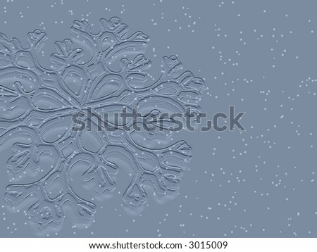 Snowflake background - stock photo