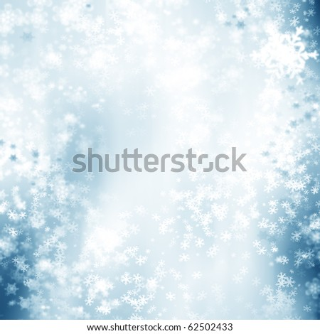 Snowflake background - stock photo