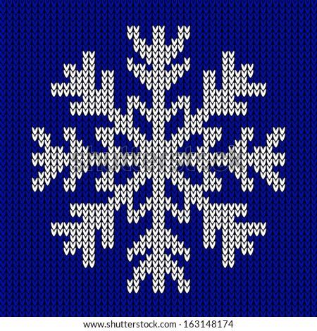 Knitted Snowflake Patterns : Knitting scheme Stock Photos, Images, & Pictures Shutterstock