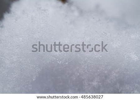 Snowflake in snow with crystals in good view