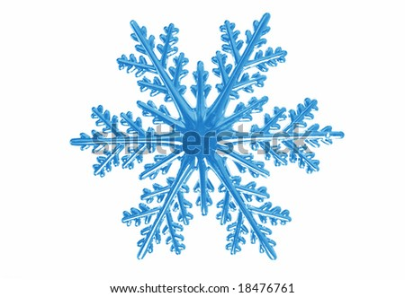 snowflake isolated on white
