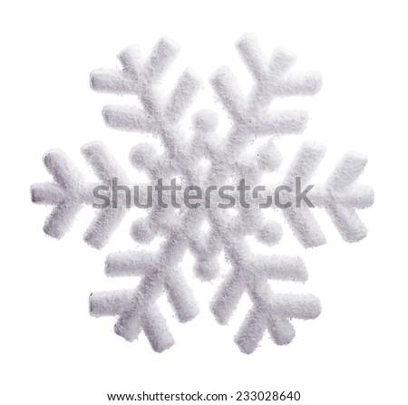 snowflake Isolated on white background - stock photo