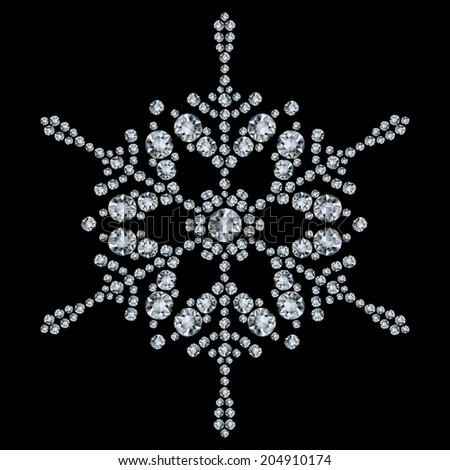 Snowflake made from diamonds
