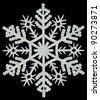 Snowflake on a black background - stock photo