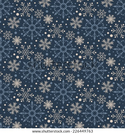 snowflakes, christmas background, abstract illustration for your design.