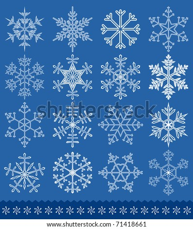 Snowflakes collection for your design. vector illustration
