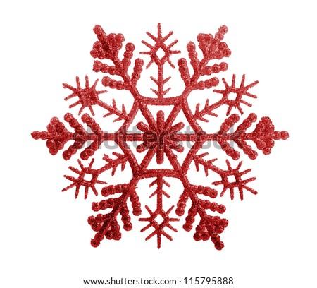 snowflakes isolated on white background - stock photo