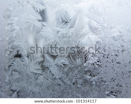 snowflakes on glass texture abstract background