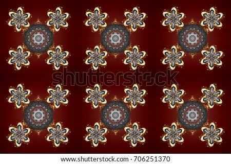 Snowflakes radial background. Isolated nice snowflakes on colorful background.Raster illustration.