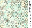 snowflakes vintage seamless pattern (raster version) - stock vector