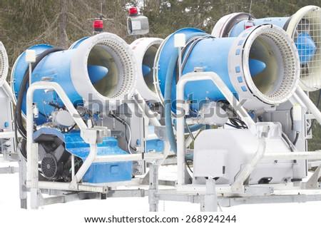 Snowmakers - stock photo
