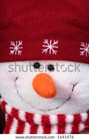 snowman face - stock photo