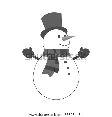 Snowman icon. Symbol in trendy flat style isolated on white background. Illustration element for your web site design, logo, app, UI.