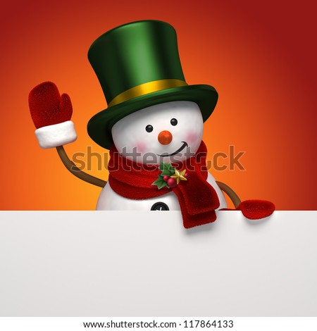 snowman in top hat