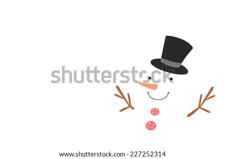 snowman on white background - stock photo