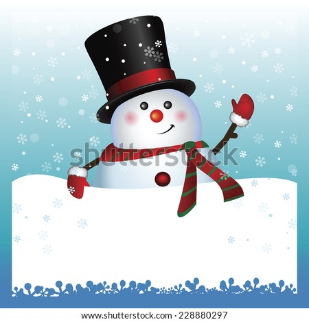 Snowman  showing card