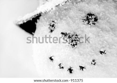 Snowman Smile - stock photo