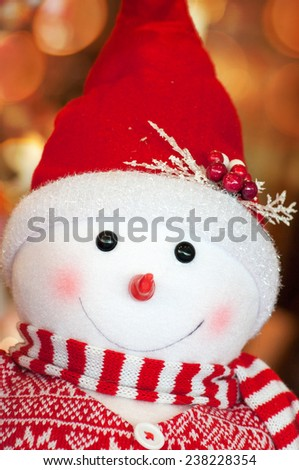 Snowman toy Christmas decoration