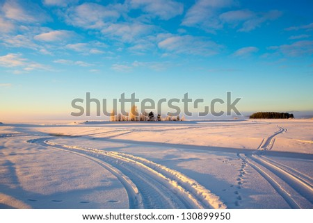 Snowmobile trails in Sunrise
