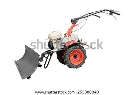 Snowplow under the white background