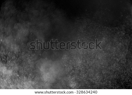 Snowstorm texture,Water dust in motion like snow,Watercolor background - stock photo