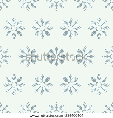 snowy christmas seamless background - stock photo